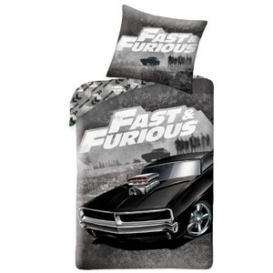 Fast & Furious Bettwäsche 80x80 + 135x200 cm · Jungen / Teenager Bettwäsche - 100% Baumwolle