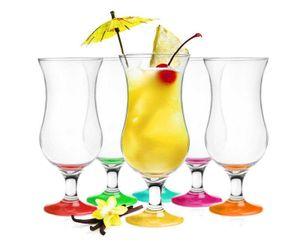 6 Stück Cocktailgläser 480ml 9 Varianten Hurricane Longdrinkgläser Bargläser (Mix 2)