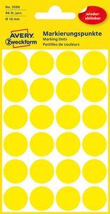 AVERY Zweckform Markierungspunkte ablösbar 18 mm gelb 96 Stück