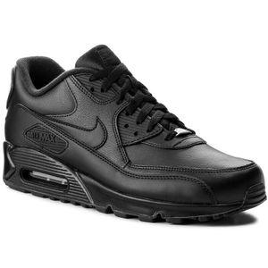 Nike Air Max 90 EU Gr.42 NEU Herren Sneaker Schuhe Sport Fitness Freizeit Schwarz 302519001