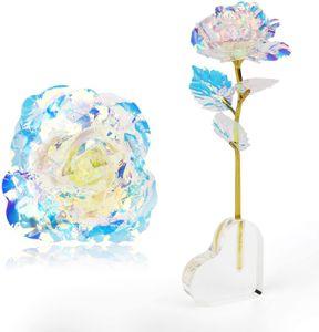 Vegena Personalisierte Frauen Geschenk, 24K Gold Rose Künstliche Blumen Handgefertigt Deko Geschenke für Hochzeit Freundin Mama Muttertag Frau Geburtstag Hochzeitstag Jahrestag Dankeschön Schwester