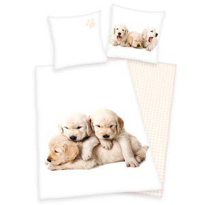 Herding Young Collection Hunde Renforcè Bettwäsche 80/80 cm + 135/200 cm mit Reißverschluss