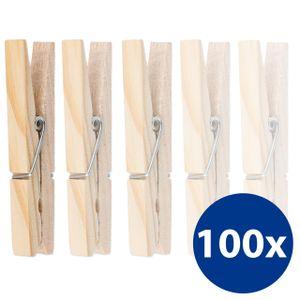 100 umweltfreundliche Wäscheklammern aus Holz Holzklammern auch zum Basteln und Dekorieren