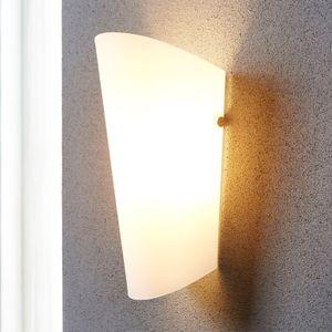 Lindby Wandleuchte, Wandlampe Innen 'Aurora' (Modern) in Weiß aus Glas u.a. für Wohnzimmer & Esszimmer (1 flammig, E27) - Wandstrahler, Wandbeleuchtung Schlafzimmer / , Wohnzimmerlampe