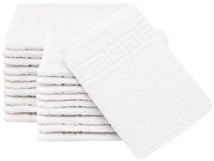 20er Set Waschhandschuhe, 100% Baumwolle, ca. 16x22 cm, weiß