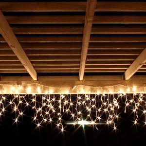 120er LED Lichtervorhang Innen und Außen warmweiß