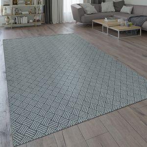 Teppich Wohnzimmer Esszimmer Küche Flecht Web Muster Modern Grau, Grösse:160x220 cm
