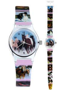 Pacific Time Kinder Armbanduhr Mädchen Uhr Pferd Pferdefreunde 20569