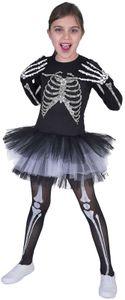 Skeleton Skelett Suzy Halloween Kinder Karneval Fasching Kostüm 128