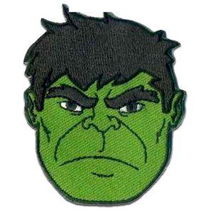 Marvel © Avengers Hulk 2 - Aufnäher, Bügelbild, Aufbügler, Applikationen, Patches, Flicken, zum aufbügeln, Größe: 6,5 x 5,3 cm
