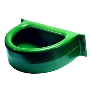 Kunststoff Trog für die Wand Futtertrog Pferdetrog 23 Liter grün