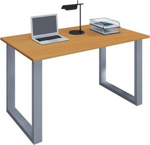 """VCM Schreibtisch Computertisch Arbeitstisch Büro Möbel PC Tisch """"Lona"""" B. 140 x T. 50 cm: Buche"""