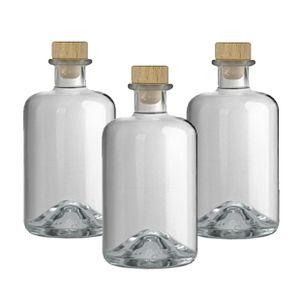 3 Apothekerflaschen 500 ml Glas Flaschen leer Essigflaschen Ölflaschen Schnapsflaschen Likörflaschen zum selbst befüllen