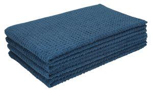 Betz 4tlg Küchenhandtücher Set 40x66 cm 100% Baumwolle Farbe Blau