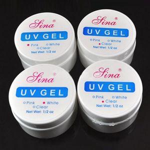 4PCS Clear UV Gel Builder Nail Art Polish Glue Manicure Tips Transparent
