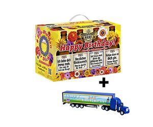 Geburtstags Bier Geschenk im 8er Geschenkkarton Geschenkebiere Happy Birthday mit Geburtstags-Truck (8,33 EUR / l)