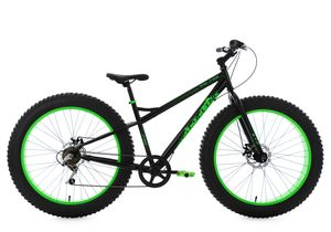 Mountainbike MTB Fatbike SNW2458 (schwarz-grün)