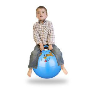 relaxdays 1 x Hüpfball Skippy Ball Jumping Ball Sprungball Hopser Springball 45 cm blau
