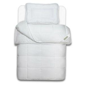 4-Jahreszeiten Kinderbett Set 100 x 135 cm aus Microfaser mit Decke und Kopfkissen atmungsaktives und pflegeleichtes Betten-Set waschmaschinen- & trocknergeeignet