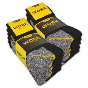 10 Paar Herren Arbeitssocken WORK - Schwarz/Grau Meliert 43-46