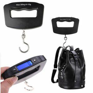 Digitale Kofferwaage bis zu 50 kg Gepäckwaage mit großes LCD-Display Hängewaage