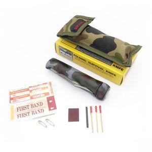 Survival Zweihand Klappmesser / Campingmesser Angelmesser