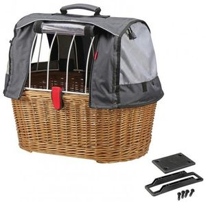 KLICKfix Doggy Basket Plus, Hinten, Fahrradkorb, Holz, 40 l, 8 kg, 520 mm
