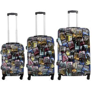Monopol Kofferset City 3-teilig bunt 36909 Koffer mit 4 Rollen