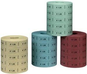 Herlitz Wertmarken 1 Euro zufällige Farbe 5 Rollen á 1.000 Abrisse