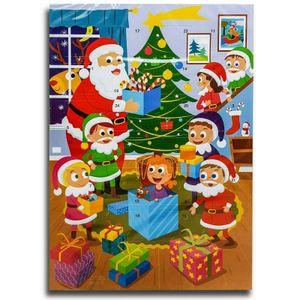 Santa Bescherung Adventskalender mit Schokolade, Schoko Weihnachts Kalender
