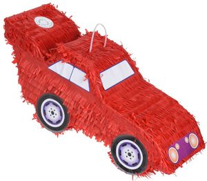 Free and Easy piñata Auto Jungen 48 cm Papier rot