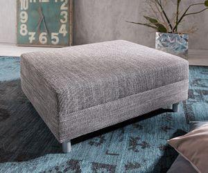 Sofa-Hocker Clovis Hellgrau Modul B98 x T83 Strukturstoff Sitzhocker
