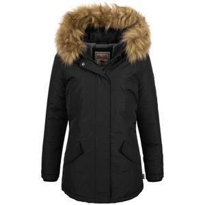Lonsdale Damen Winterjacke Kimmeridge, Farbe:black, Größe:M
