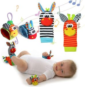 Baby Rasseln Spielzeug, Socken und Handgelenk Fuß und Handgelenk Rassel Finder Plüschtier Developmental Soft ToysGame Socken Nettes Tier Soft Baby Handgelenk
