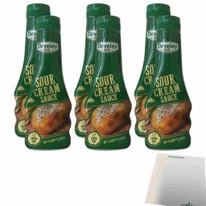 Develey Sour Cream Sauce mit Schnittlauch 6er Pack (6x250ml Flasche) + usy Block