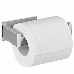 Toilettenpapierhalter Ohne Bohren, Selbstklebend Toilettenpapierrollenhalter Edelstahl Klopapierhalter Wc Halter Rollenhalter Klorollenhalter Papierhalter für Küche und Badzimmer