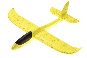 großes XXL Segelflugzeug Segelflieger aus Styropor/EPP 49*48*12,5cm Flugzeug Flieger Outdoor-Sport Wurf-Spielzeug (gelb)