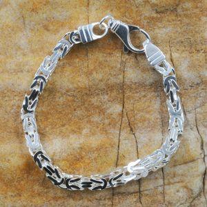 massive Armkette Königskette Armband 925er Sterlingsilber hochwertig 4,9 mm 23 cm