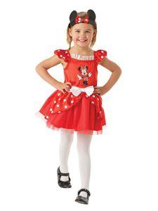 Rubie's - Kinder Ballerina-Kostüm Minnie Maus - Rot - Kleinkindgröße