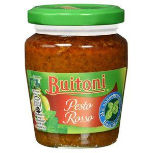 Buitoni Pesto Rosso Tomaten Pesto mit Basilikum und Käse 150g