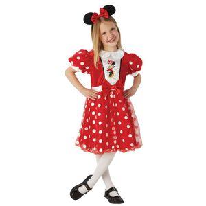 Glitzer Mouse | Kinder Kostüm | Fasching | Karneval | Gr. 110-134 | Minnie Maus, Größe:L
