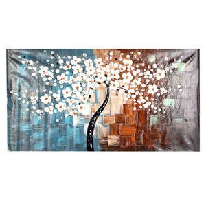 60 * 120cm Ungerahmte handgemalte oelgemaelde Set Blumenbaum Leinwand Druckdekoration fuer Zuhause Wohnzimmer Schlafzimmer Buero Kunst Bild