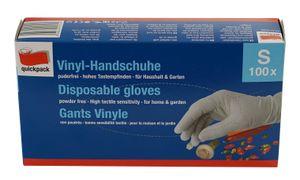 Quickpack Vinyl Einmal Handschuhe weiß Gr S 100 Stk puderfrei Vinylhandschuhe