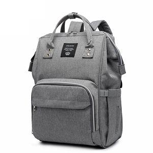 Hikeren Baby Wickelrucksack, Multifunktional Oxford Wasserdichte Große Kapazität Babytasche für Reise, Grau,Mit 15 Taschen
