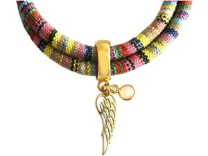 Damen Armband Wickelarmband 925 Silber Vergoldet Flügel Engel AZTEC Rosenquarz Rose