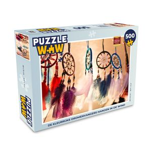 Puzzle 500 Teile - Die bunten Traumfänger hängen im Wind