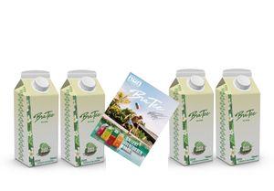 Capital BraTee Bali Edition 4er Set Special Eistee je 750ml + Autogrammkarte BRATEE Limited Edition Ice tea Mehrfrucht mit Vanillegeschmack mit Capi-Qualitäts-Siegel - Du weisst Bescheid