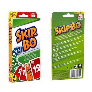 Mattel Skip-Bo, Skip-Bo im Thekendisplay, Für Kinder und Familie geeignete Kartenspiele