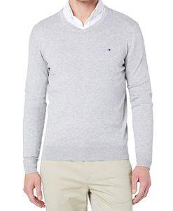 Tommy Hilfiger Herren Pullover V-Neck Grau M
