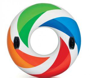 Intex 58202 Schwimmreifen Color Whirl 119cm mit 2 Griffen